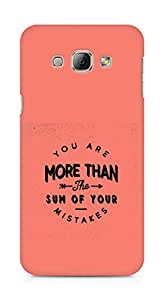 AMEZ you are more than the sum of your mistakes Back Cover For Samsung Galaxy A8