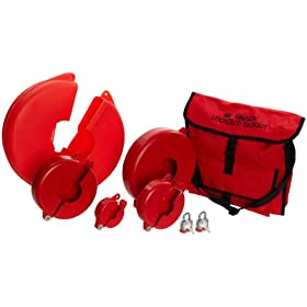 "Brady Gate Valve Lockout Satchel Kit, Legend ""Brady Lockout/Tagout"""