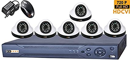 Puffin-8-CH-HDCVI-Dvr-(With-6-HD-720P-Night-Vision-Dome-Cameras)