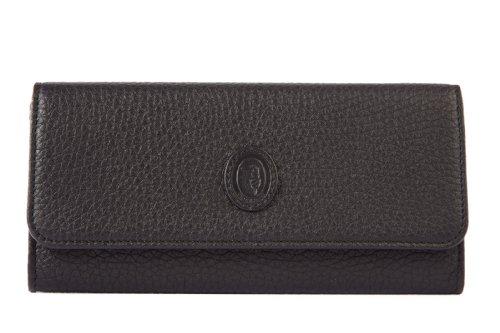 Trussardi portafoglio portamonete donna in pelle bifold nero