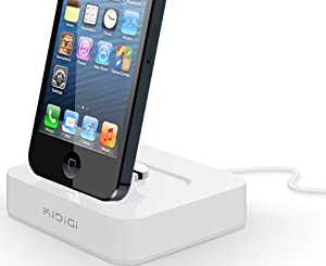 KiDiGi WHITE CHARGER CRADLE DOCK MADE FOR LIGHTNING CABLE iPOD TOUCH 5 5th GEN