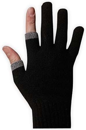 Etre Touchy Texting Gloves (M, Black/Grey Trim)