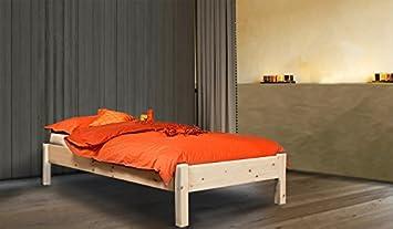 Herzfrequenzbett 'Dream Base' - Einzelbett aus Zirbe ohne Ruckenlehne in den Maßen 90 x 200, Höhe 50 cm. Lattenrosttiefe 13 cm - handgemachtes Meisterstuck aus Sudtirol