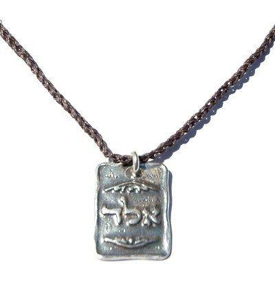 """Mizze Made For Luck Jewelry 72 nomi di protezione, motivo """"God Kabbalah a mano-Collana da uomo, colore: Grigio"""