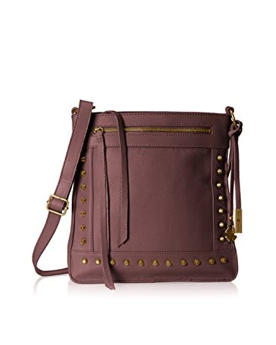 Lucky Brand Women's Studded North/South Cross-Body, Red