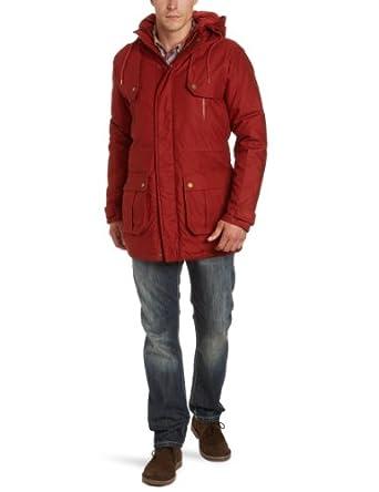 SELECTED HOMME Herren Parka 16027748 Avenue Jacket, Gr. 52 (L), Rot (Burnt Henna)