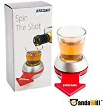 Theme My Party Shot Spinner Spin The Shot Novelty Drinking Game Spinning Wheel Funny Party (MultiColor)