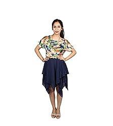 SARV Ebiz Women's Multi Colour Skater Dress (SEAN414)