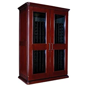 Le Cache Euro 3800 Wine Cabinet - Classic Cherry finish