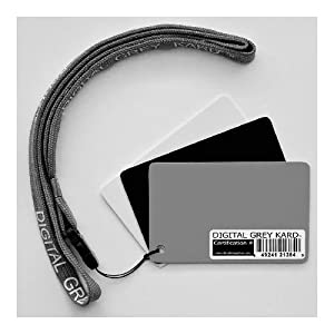 Digital Image Flow DGK Color Tools, Standard White Balance Card Set with Standard Lanyard (Set of Three Cards)