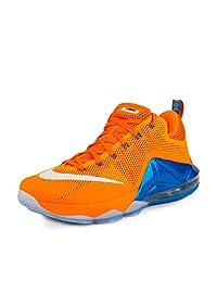 Nike Mens Lebron XII Low Bright Citrus/White-Total Orange Synthetic
