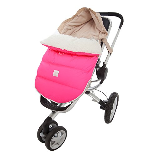 7AM Enfant Lamb Pod Cover for Strollers and Car-Seats, Neon Pink, Medium/Large