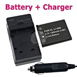 Best Deal on Fuji NP-45 Compatible Battery + Battery Charger with Car Adapter for Fuji FinePix S610 / XP10 / J10 / J100 / J110W / J12 / J120 / J150W / J15fd / J20 / J250 / J30 / J38 SLR Camera