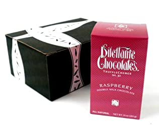 Dilettante Chocolates Raspberry Double Milk Chocolate Truffle Cremes, One-10oz in Gift Box