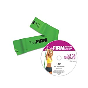 The Firm Pilates Band with DVD, Green (Medium) from The Firm