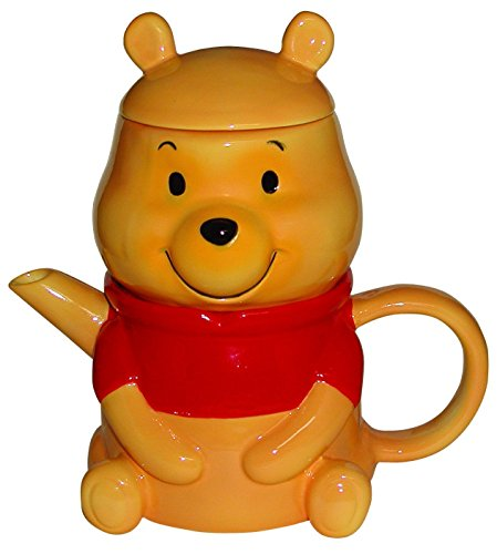 Japan Disney Official Winnie the Pooh - Cute Bear Orange Ceramic Luxury Tea Kettle Bowl Gift Basket Set Coffee Mug Water Cup Matcha Chawan Ceremony Food Soup Milk Ramen Tumbler Pot Pottery Porcelain (Pooh Tea Kettle compare prices)