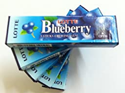 Lotte Blueberry Chewing Gum (Pack of 20)