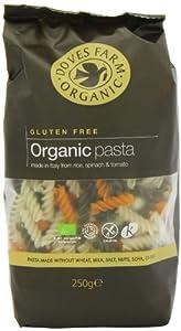 Doves Farm Organic Gluten Free Tricolore Fusilli Pasta 250 g (Pack of 6)