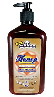 Malibu Hemp Golden Glow Skin Firming Bronzing Moisturizer 18oz