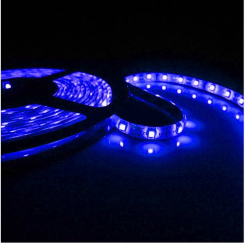 Blue Light Non-Waterproof 1-30M 3528 Smd 60 Leds/M Led Strips Light 1M + 12V Power Adapter