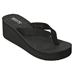 Product Image Women's Mossimo Supply Co. Lona Wedge Flip Flops - Black