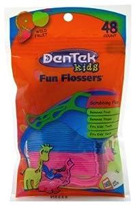 Dentek Porte-fil dentaire Fun Flossers (48) - Avec du fluor