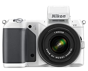 Nikon 1 V2 Compact System Camera with 10-30mm Lens Kit - White (14.2MP) 3 inch LCD