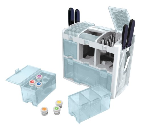 Cake Decorating Tips Organizer : Wilton 409-623 Ultimate Tool Caddy 3-Level Cake-Decorating ...