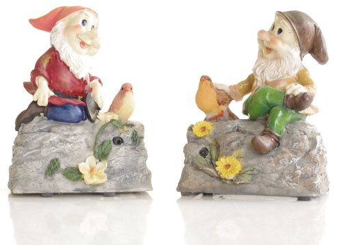 Cheeky Whistling Garden Gnome sat on a Rock - Put a smile in your garden