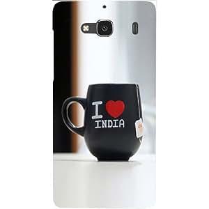 Casotec Love India Mug Design Hard Back Case Cover for Xiaomi Redmi 2 Prime