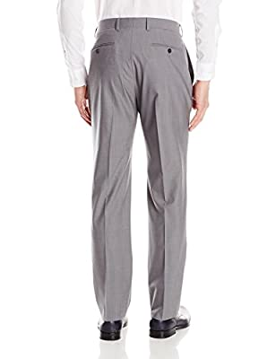Calvin Klein Men's Michael Two-Piece Suit Grey Two-Button Side-Vent Jacket and Flat Front Pant