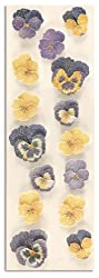 Martha Stewart Crafts Stickers Sugar Bead Pansy Blue/Yellow By The Package