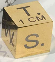 1cm Gold Polished Scale Cube