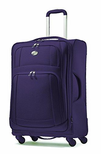 American Tourister Luggage Ilite Supreme 25 Inch Spinner Suitcase (Indigo Purple) image