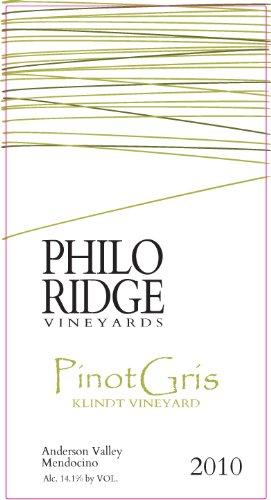 2010 Philo Ridge Vineyards Pinot Gris Klindt Vineyard 750 Ml