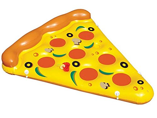 """72"""" Water Sports Inflatable Pizza Slice Swimming Pool Float"""