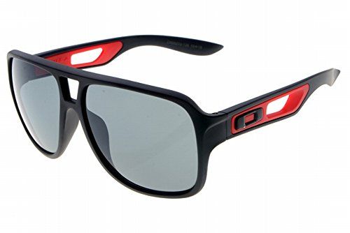 Grande Oversize Quadrato FLAT TOP fashion retro occhiali da sole Badman Prizm Daily Polarized oo6020 - 06, Uomo, Black, Taglia unica