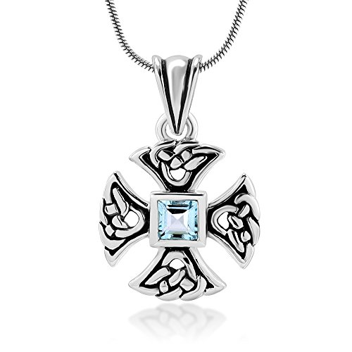 sterling-silver-genuine-blue-topaz-gemstones-celtic-knot-cross-pendant-necklace-18