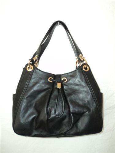 MICHAEL Michael KorsMichael Kors Ludlow Large Shoulder Black Leather Handbag