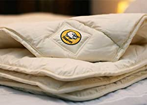 A 100% HYPO ALLERGENIC SUPER KING SIZE WOOL DUVET 4   8 TOG 2 TO 3 SEASON. WITH A 100% FINEST COTTON FIBRE PROOF OUTING. HAND MADE IN NORTH WALES. FROM WELSH SHEEP 260CM BY 220CM.       reviews and more information