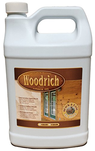 Timber Oil Deep Penetrating Stain for Wood Decks, Wood Fences, Wood Siding, and Log Cabins - 1 Gallon Brown Sugar - Woodrich Brand - Covers up to 150 Square Feet - 100% Guaranteed - Easy to Use (Dark Brown Spray Paint Gloss compare prices)