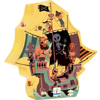 Cheap Djeco Captain Cook's Ship Silhouette Puzzle by Djeco (B001HG7T14)