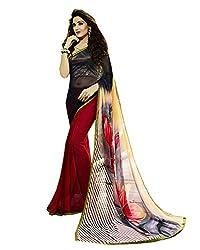 Dharmnandan Fashion Multi-Coloured Georgette Printed Saree