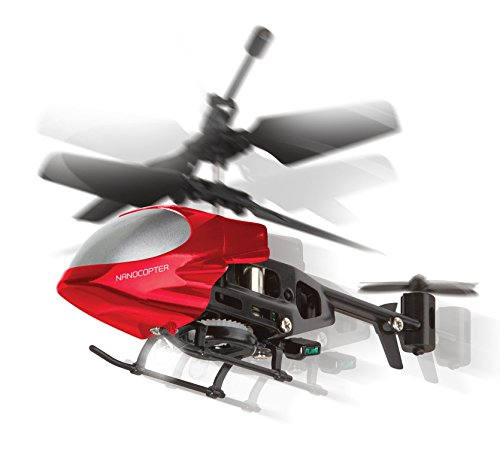 World's Smallest Remote Control Helicopter Miniature Indoor Flying LED Micro Nano Mini RC Helicopter Toy Whirlybird Chopper Copter Gyro Drone Airplane for Kids - Colors Vary - by Perfect Life Ideas (Camera Chopper Remote Control compare prices)