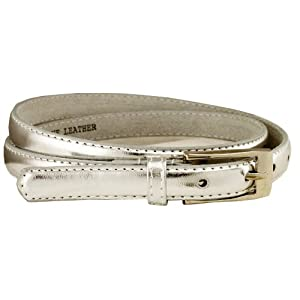 New Classy Womens Skinny Leather Belt with Shiny Buckle Many Colors S-XL (S(30