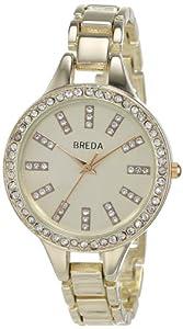 Breda Women's 8172-gold Veronica Round Dial Super Slim Bracelet Watch
