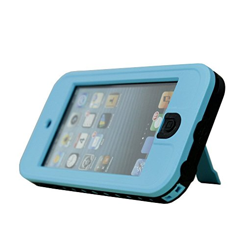 iPod Touch 5 Case, Caka Full-Body Waterproof Shockproof Dirtproof Durable Full Sealed Protection Case Cover With Kickstand Apple Ipod 5 5G
