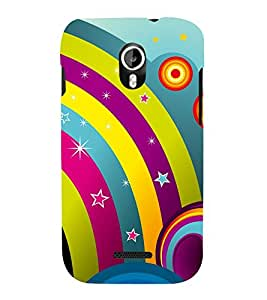 Rainbow Design Pattern 3D Hard Polycarbonate Designer Back Case Cover for Micromax Canvas Magnus A117