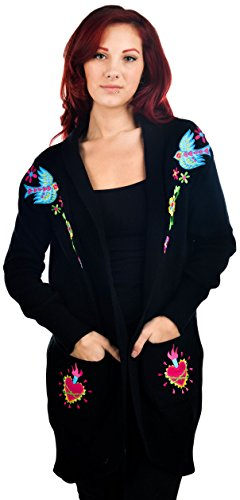 Too Fast -  Cardigan  - Donna nero Small