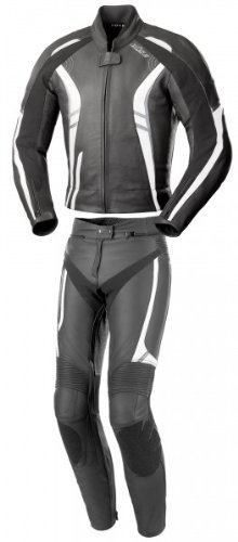 Büse Jerez Damen Lederkombi 2tlg., Farbe schwarz-grau-weiss, Größe D44
